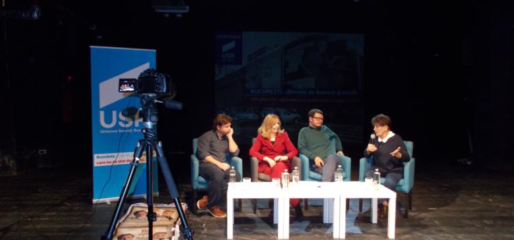 """Dezbatere """"București, dincolo de banner și mesh"""""""